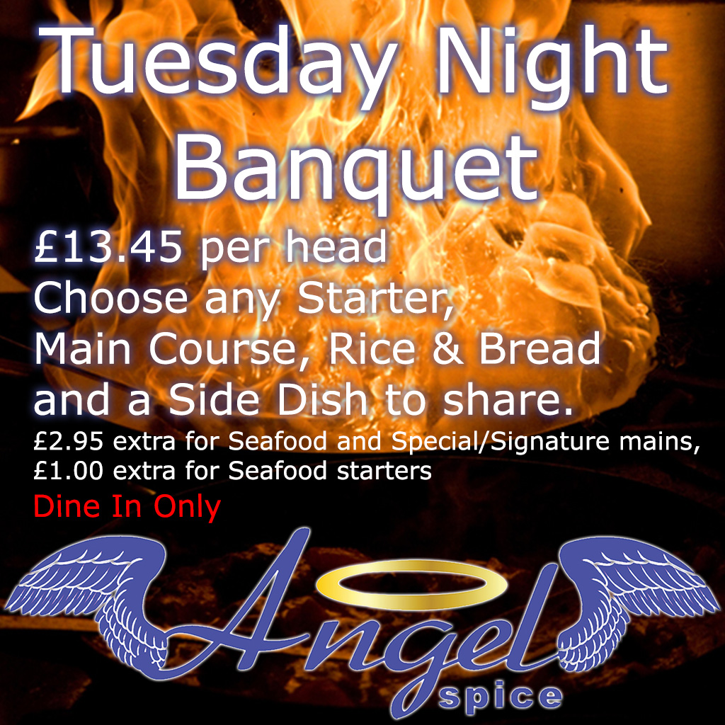 Tuesday Banquet, only £12.50